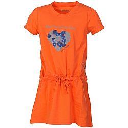 ALPINE PRO TANGERINO - Dívčí šaty