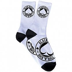 BLACK HEART Ace Of Spades Socks bílá - 5-6