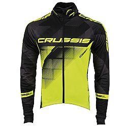Crussis cyklistická bunda CRUSSIS černá-fluo žlutá - XXL