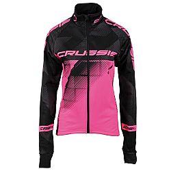 Crussis cyklistická bunda CRUSSIS černo-růžová - XL