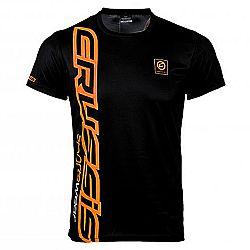Crussis Pánské triko Crussis - krátký rukáv černo-oranžová - XL