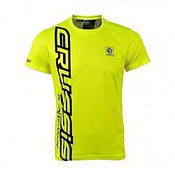 Crussis Pánské triko Crussis - krátký rukáv fluo žlutá - XL