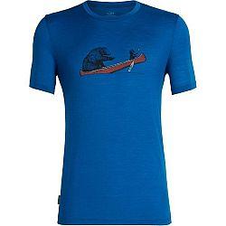 Icebreaker TECH LITE SS CREWE CANOE COMPANIONS - Pánské funkční tričko