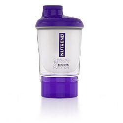 Nutrend Shaker se zásobníkem 300 ml fialová