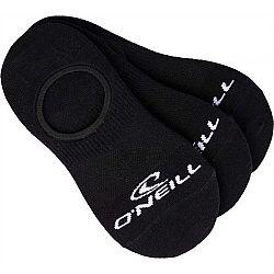 O'Neill FOOTIE ONEILL BLACK 3P - Unisex ponožky