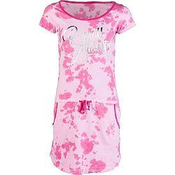 Russell Athletic PRINTED SCRIPT DRESS - Dámské šaty