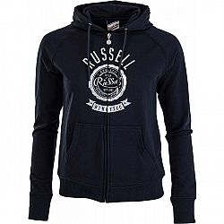 Russell Athletic ZIP TROUGH HOODY WITH ROSETTE PRINT - Dámská mikina