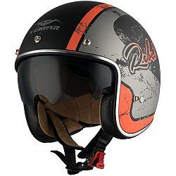 VEMAR Chopper Rebel černá matná/oranžová/stříbrná - XS (53-54)