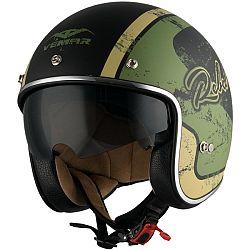 VEMAR Chopper Rebel černá matná/zelená/krémová - XS (53-54)