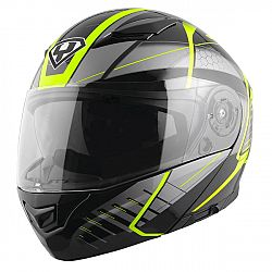 YOHE 950-16 Black-Fluo Green - XXL (63-64)